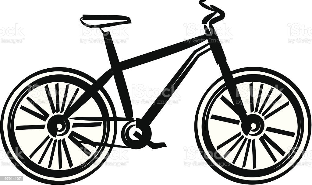 Bicycle vector illustration royalty-free bicycle vector illustration stock vector art & more images of bicycle