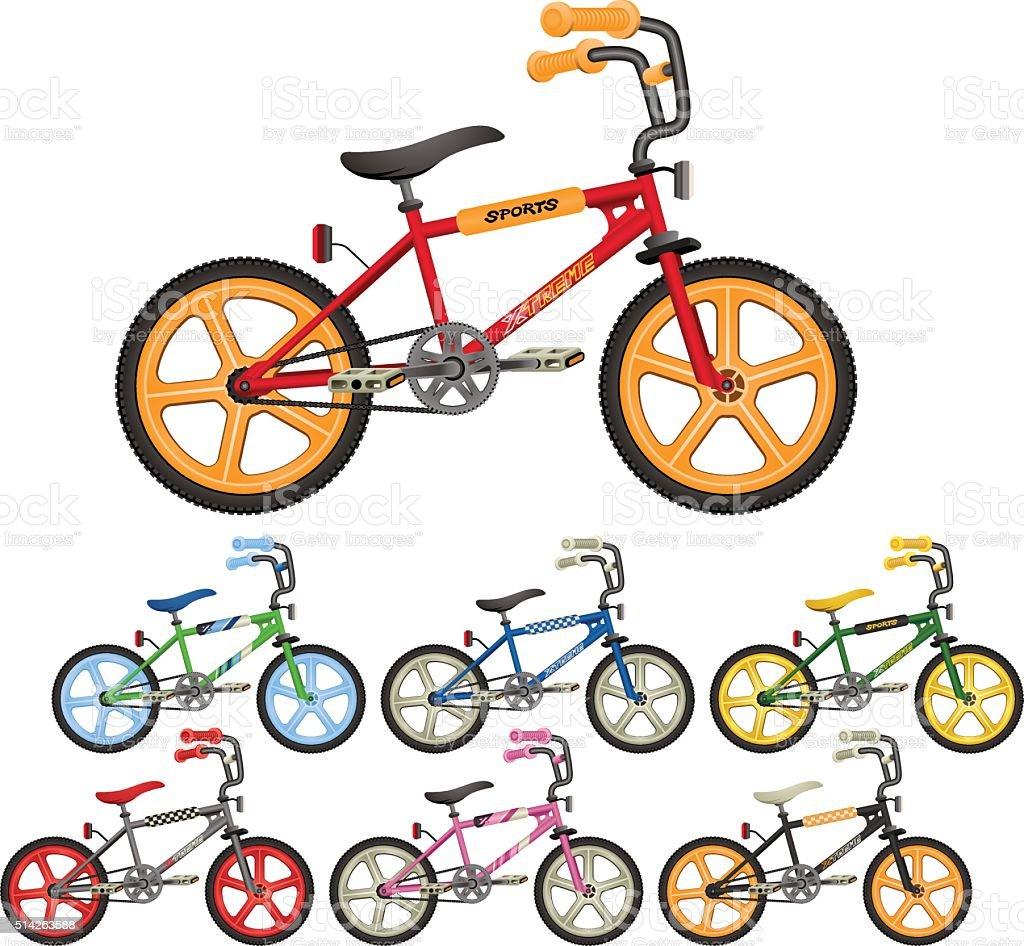 BMX Bicycle Vector Illustrations vector art illustration