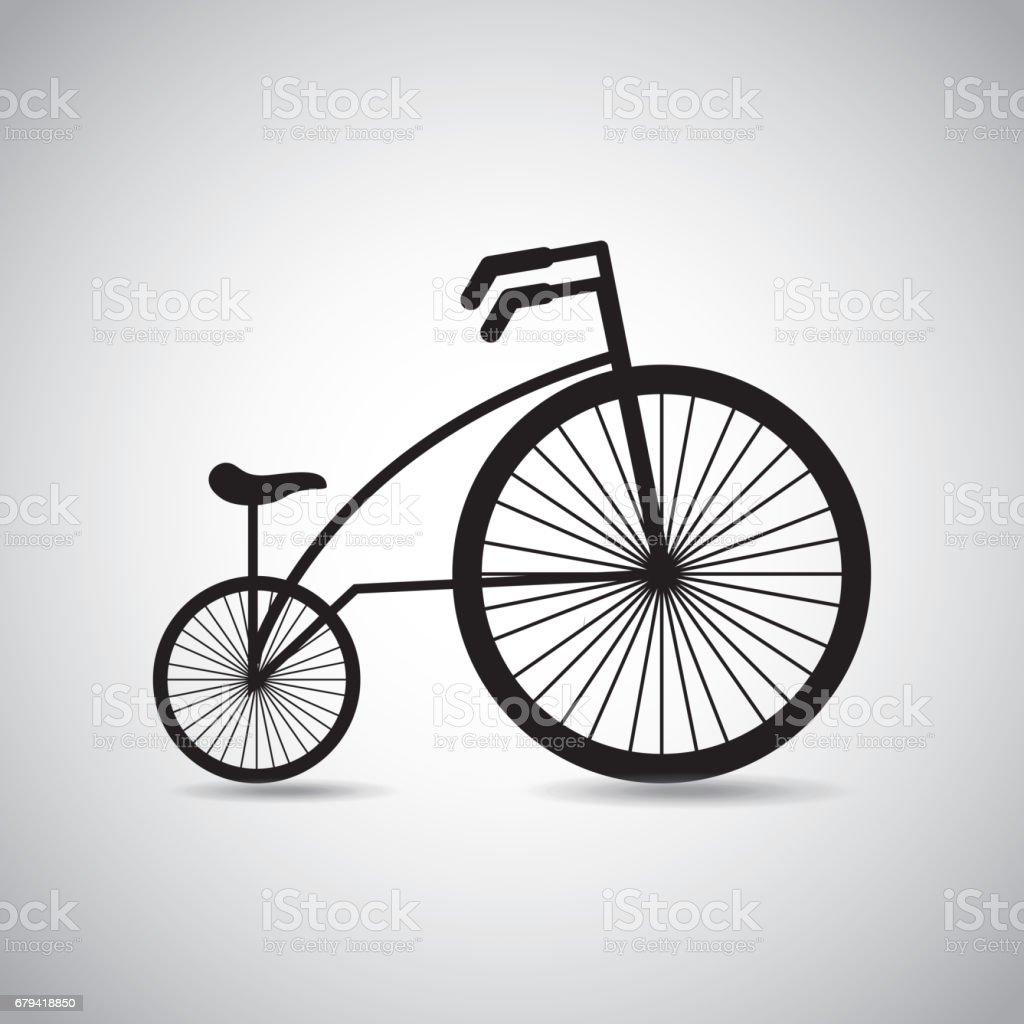 icône de rétro véhicule vélo icône de rétro véhicule vélo – cliparts vectoriels et plus d'images de antiquités libre de droits