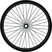 Bicycle wheel black