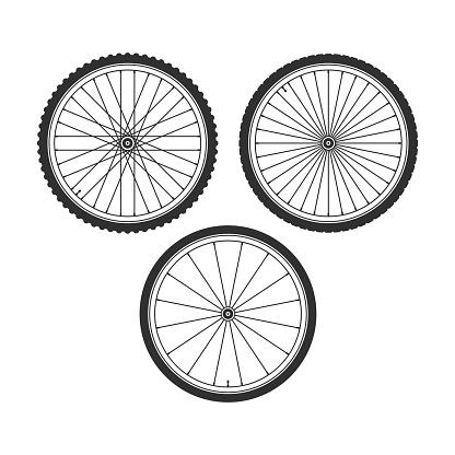 Bicycle wheel symbol.