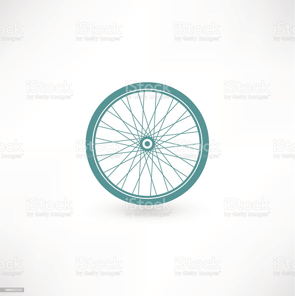 Bicycle Wheel Symbol vector art illustration