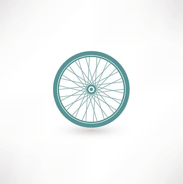 Bicycle Wheel Symbol vector art illustration