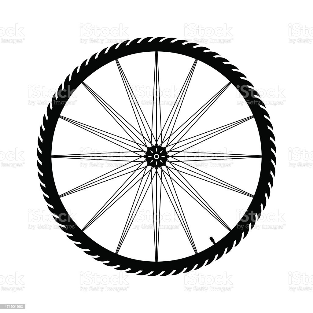 Bicycle wheel vector illustration vector art illustration