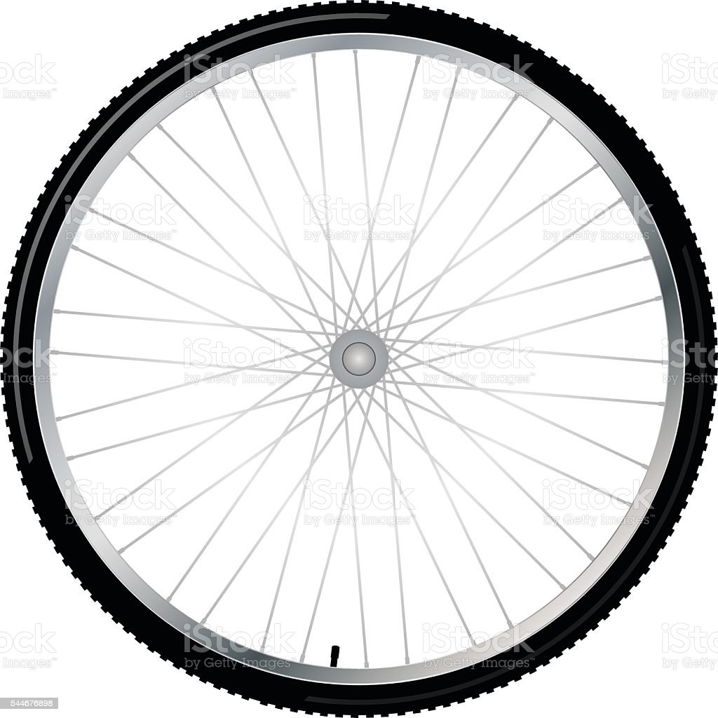 Bicycle wheel, vector vector art illustration