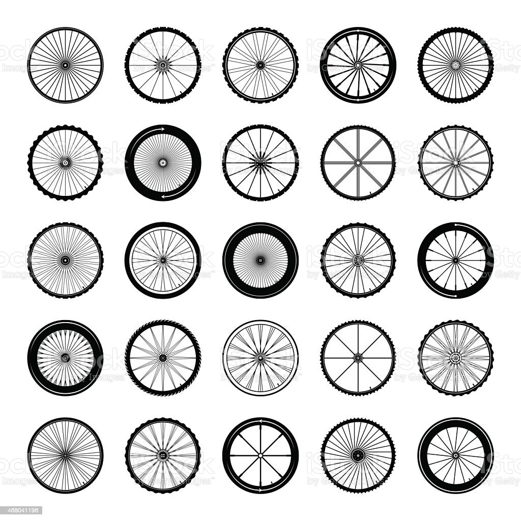 Bicycle wheels vector illustration vector art illustration