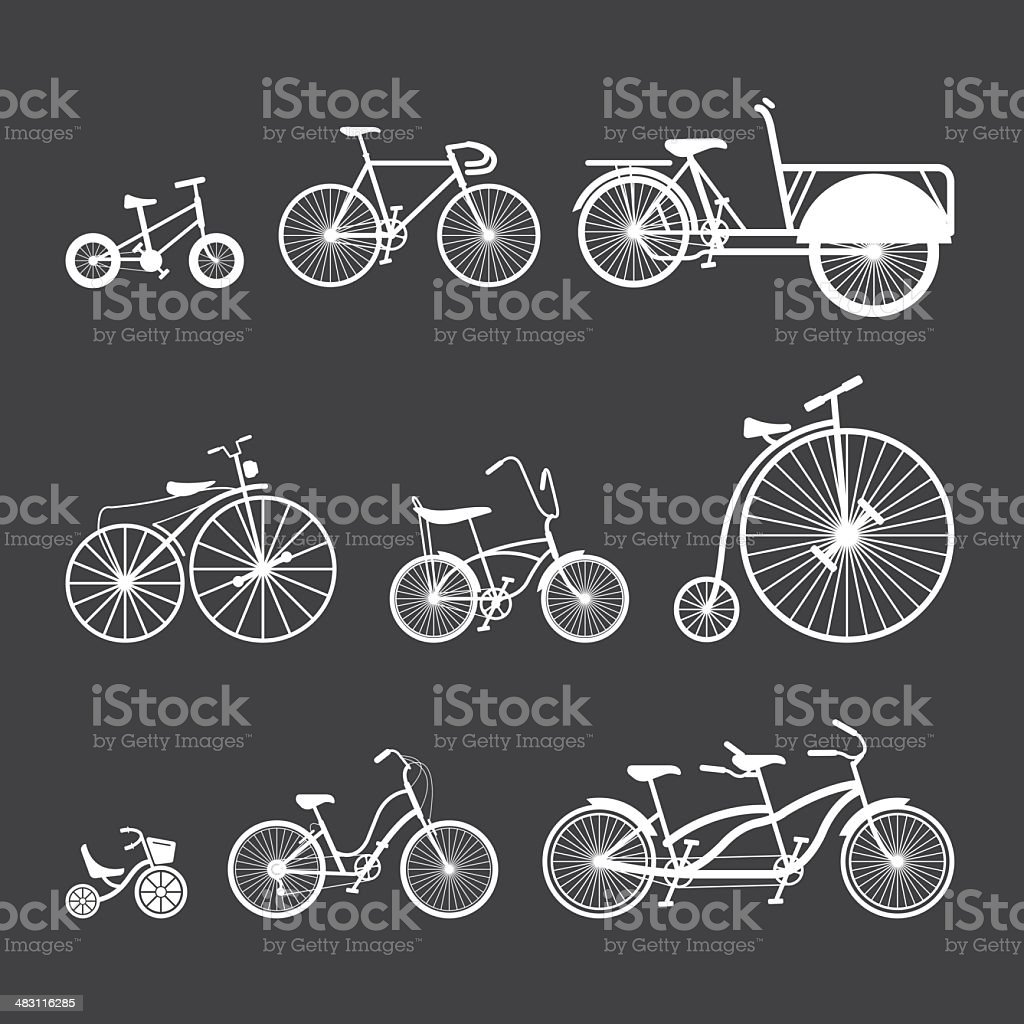 Bicycle White Series | EPS10 royalty-free stock vector art