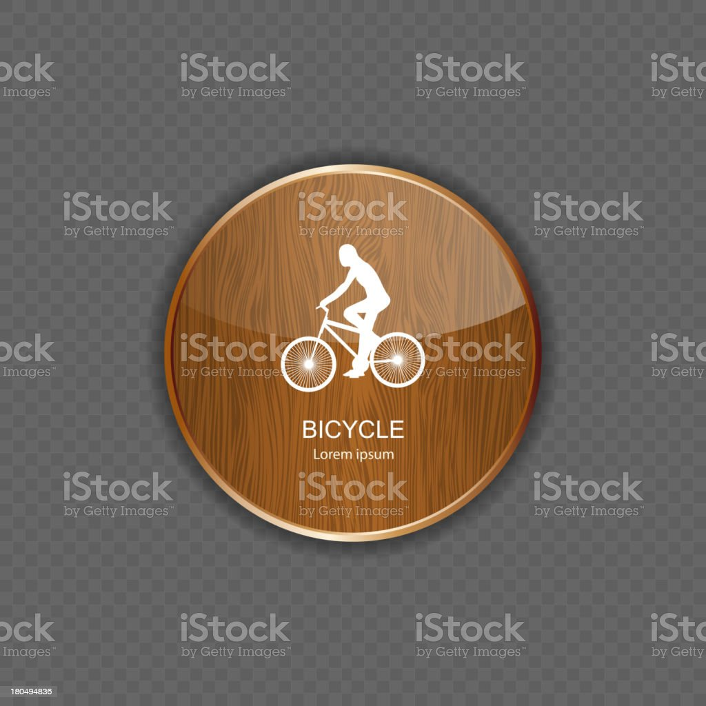 Bicycle wood application icons royalty-free stock vector art