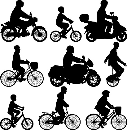Bicycles, Motorbikes and a Unicycle