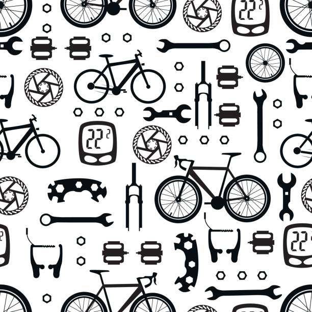 Bicycles. Seamless pattern. – Vektorgrafik