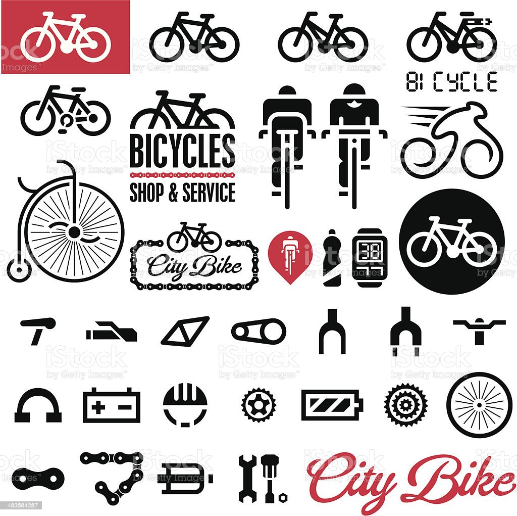 Bicycles vector art illustration