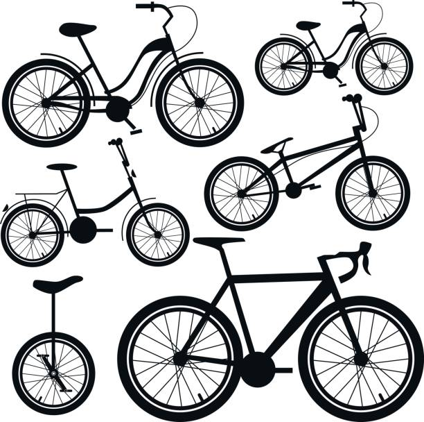 Fahrräder. Vektor-Set. – Vektorgrafik