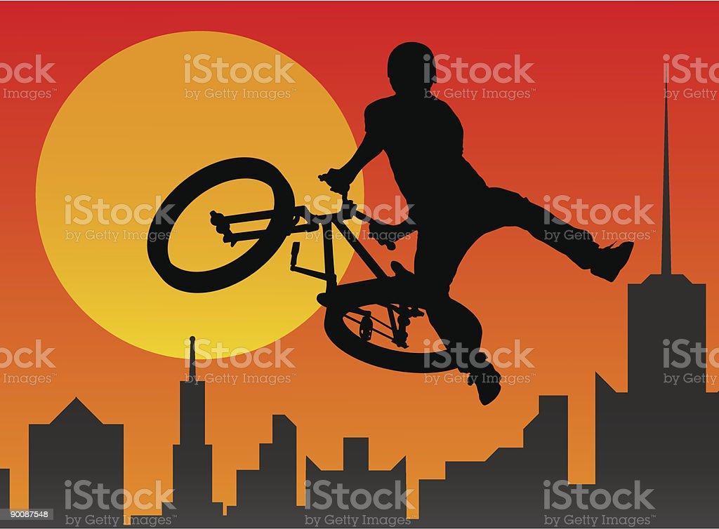 bicyclist vector art illustration