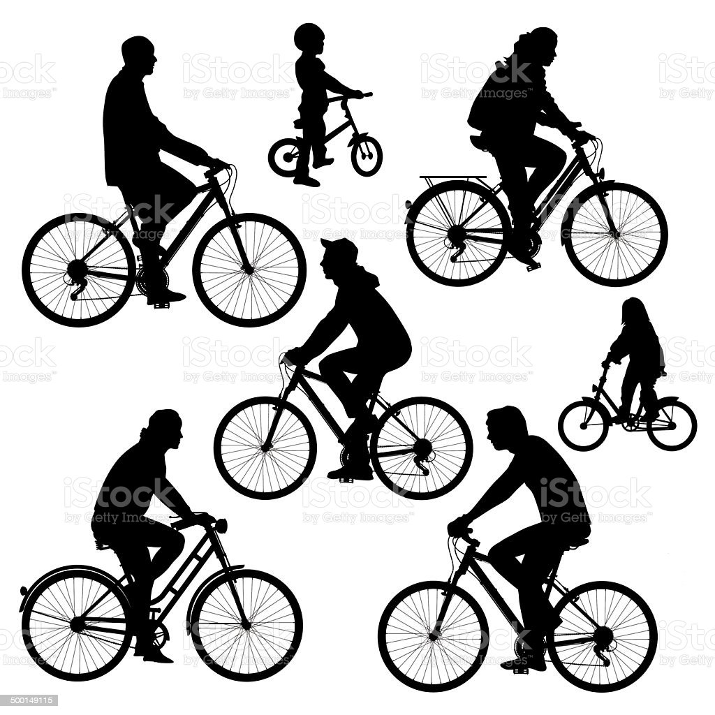 Bicyclists royalty-free stock vector art