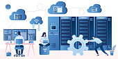 istock Bid data developers and engineers. Data science and jobs concept. 1207428745