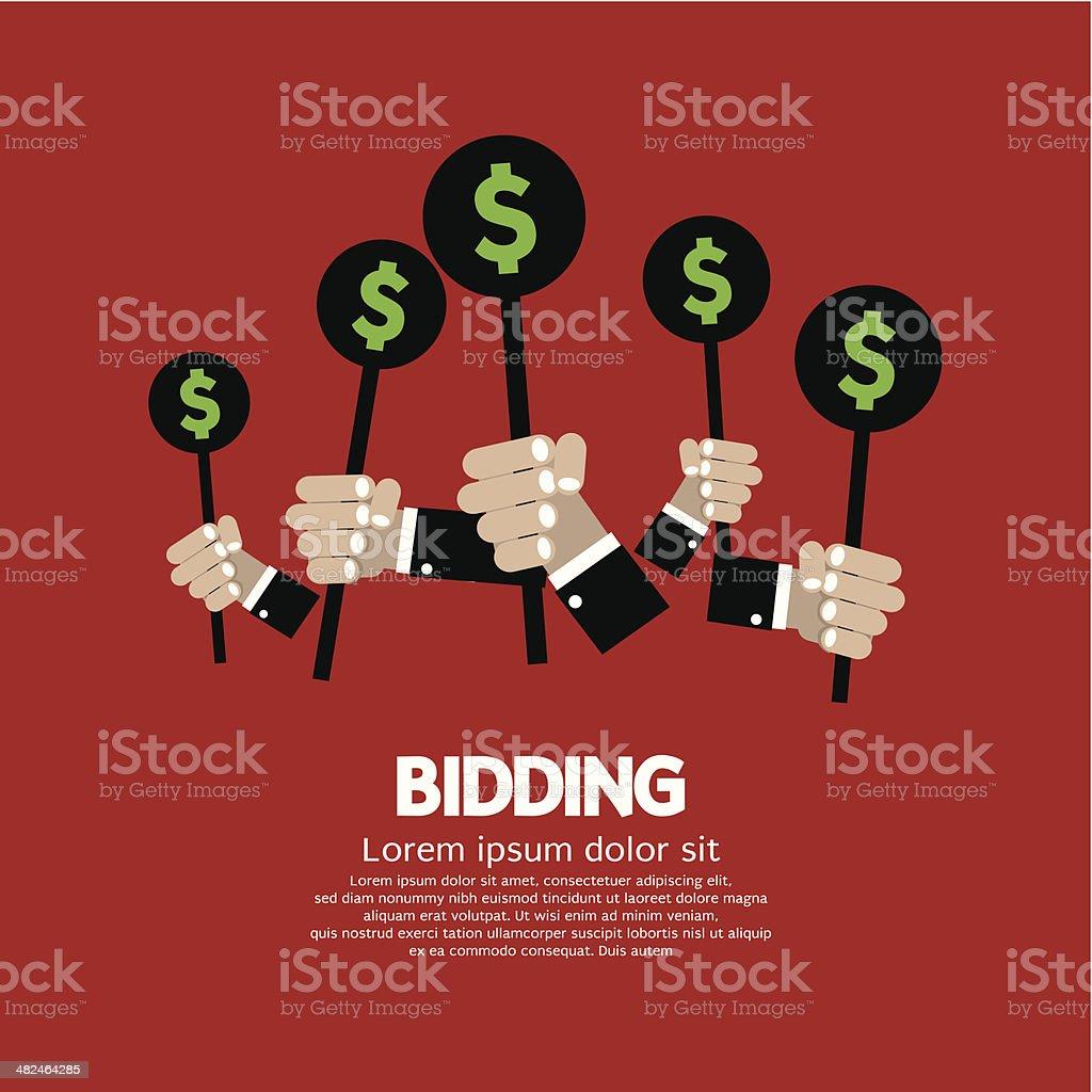 Bidding or Auction Concept vector art illustration
