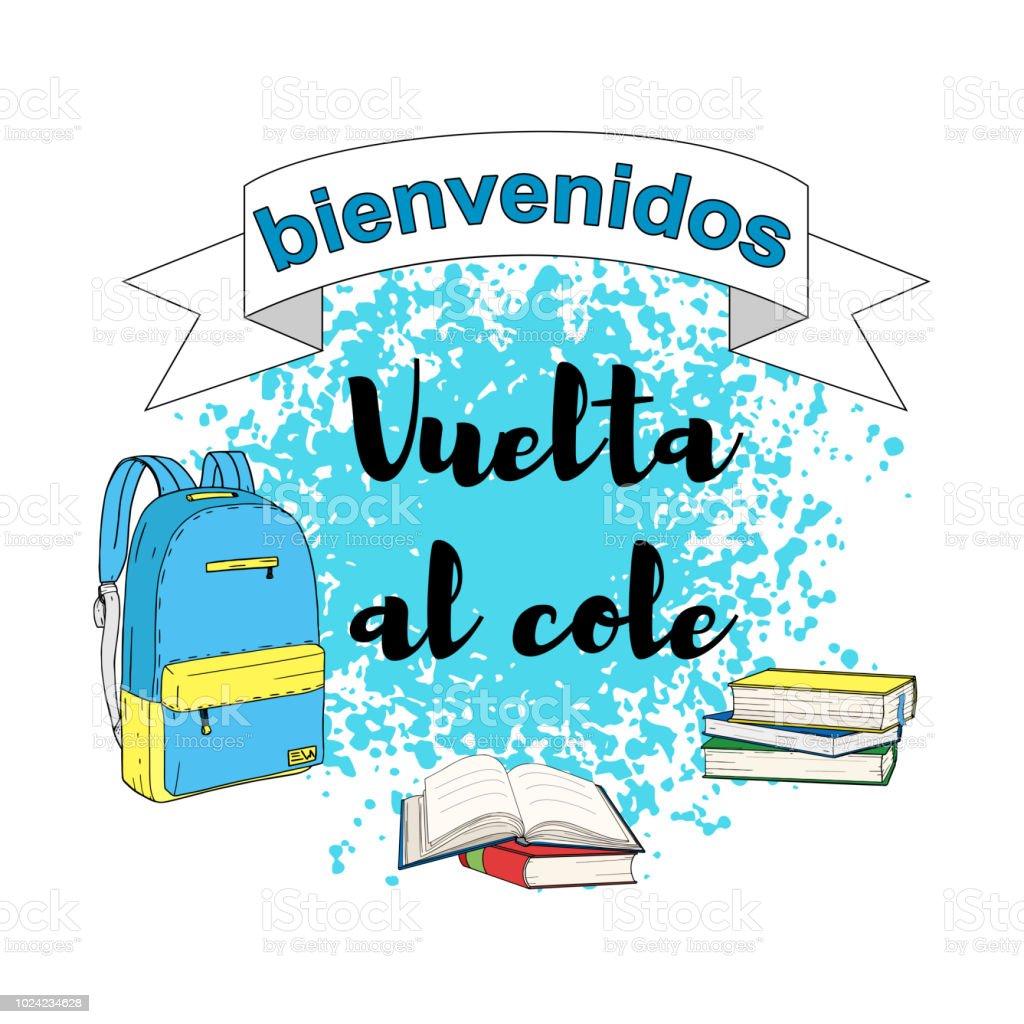 Ilustración de Bienvenidos Vuelta Al Colebienvenido De Nuevo A La ...