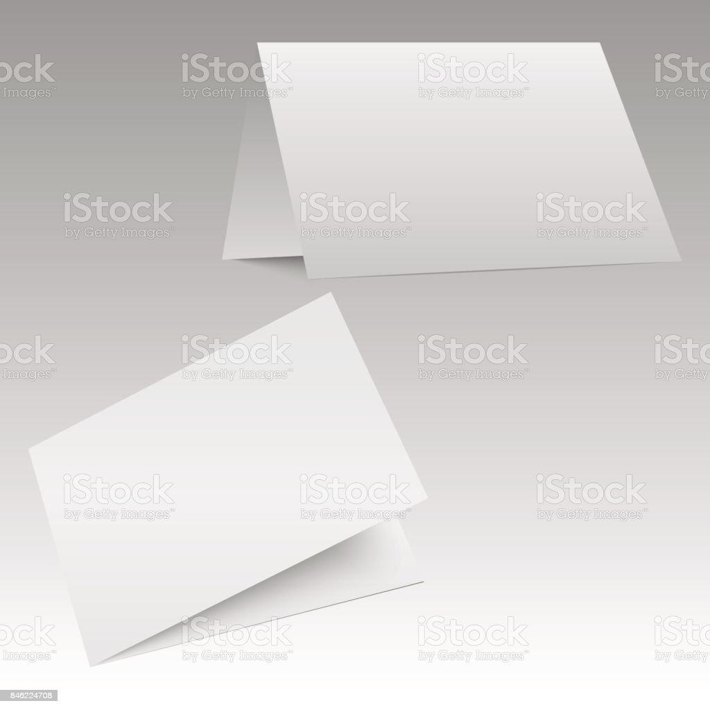 bifold white template paper vector illustration stock vector art