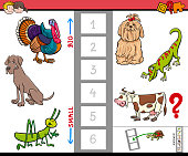 big and small animals game for children