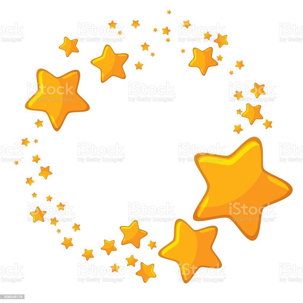 Big And Small Cartoon Stars Stock Illustration - Download ...