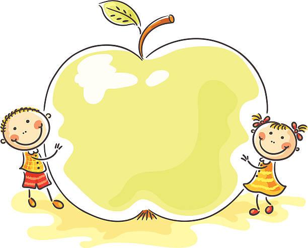 Velké jablko vektorové umění ilustrace