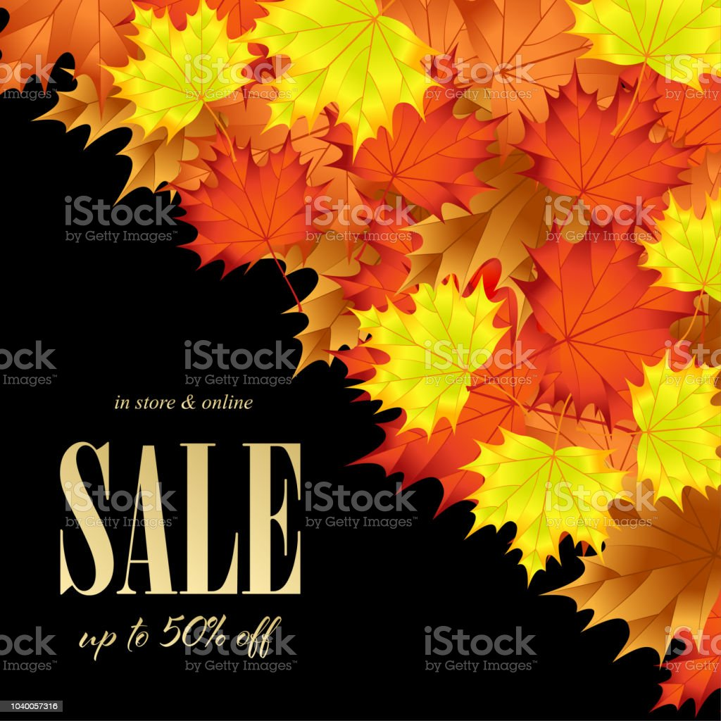 big autumn sale template banner stock vector art more images of