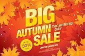 Big autumn sale template banner