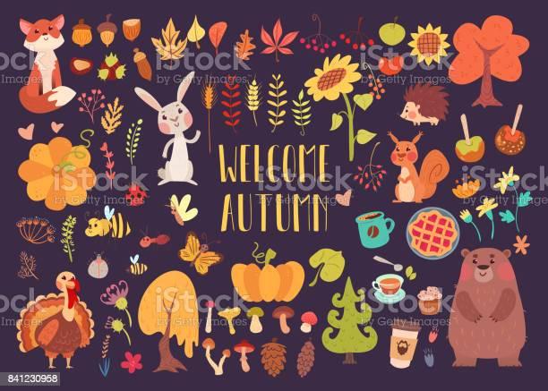 Big autumn set of cartoon characters vector id841230958?b=1&k=6&m=841230958&s=612x612&h=xz5hwpee1wxt6drihkjufmbp3lez8quxut0gacj gwg=