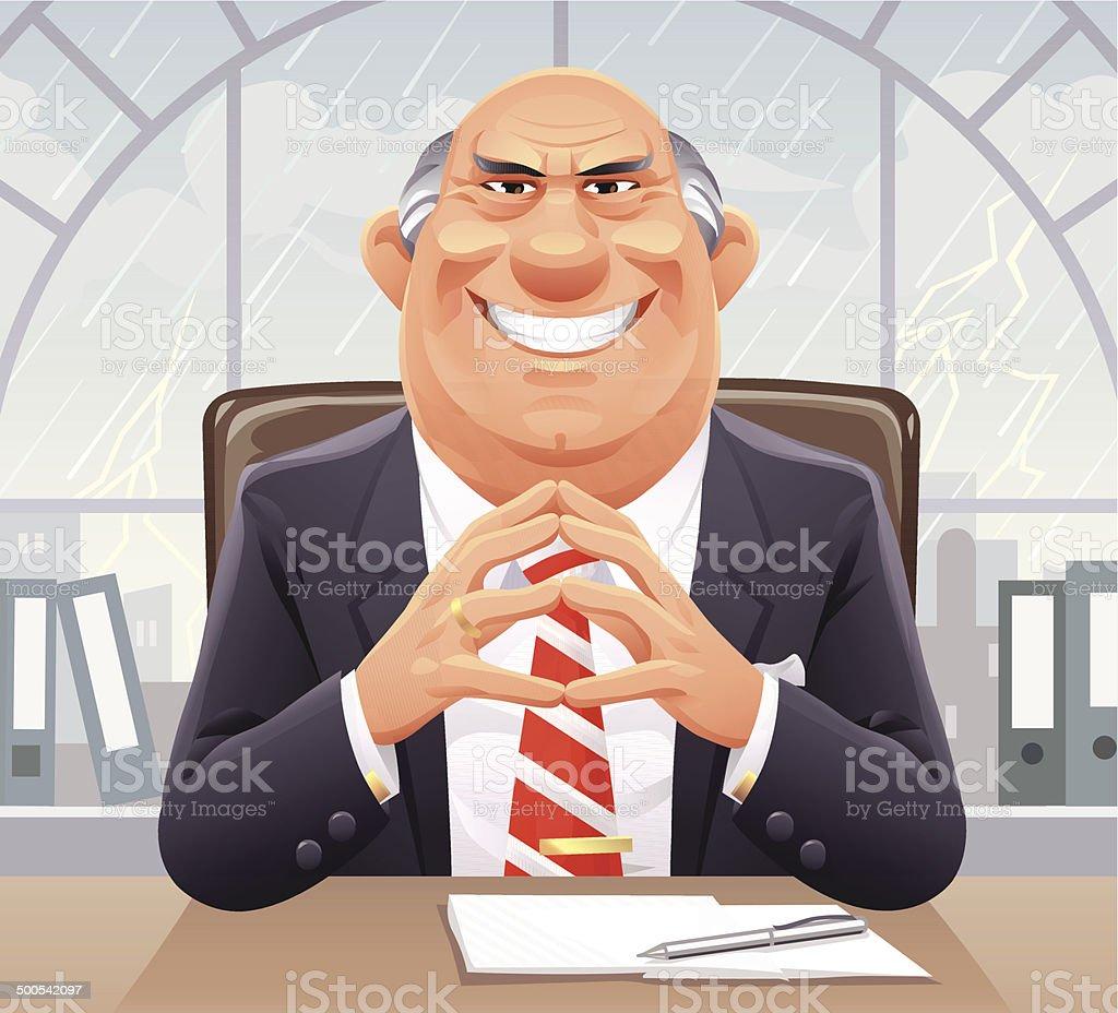 Big Bad Boss vector art illustration