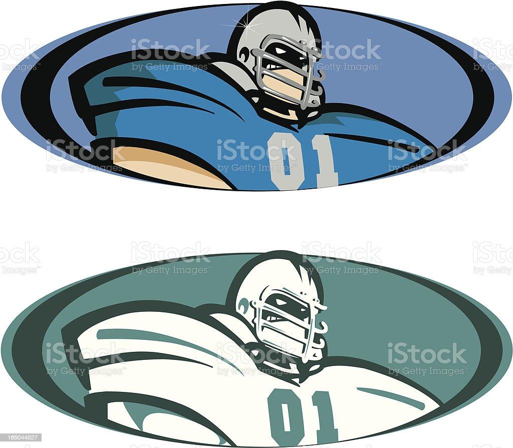 Big Bad Football Player royalty-free stock vector art