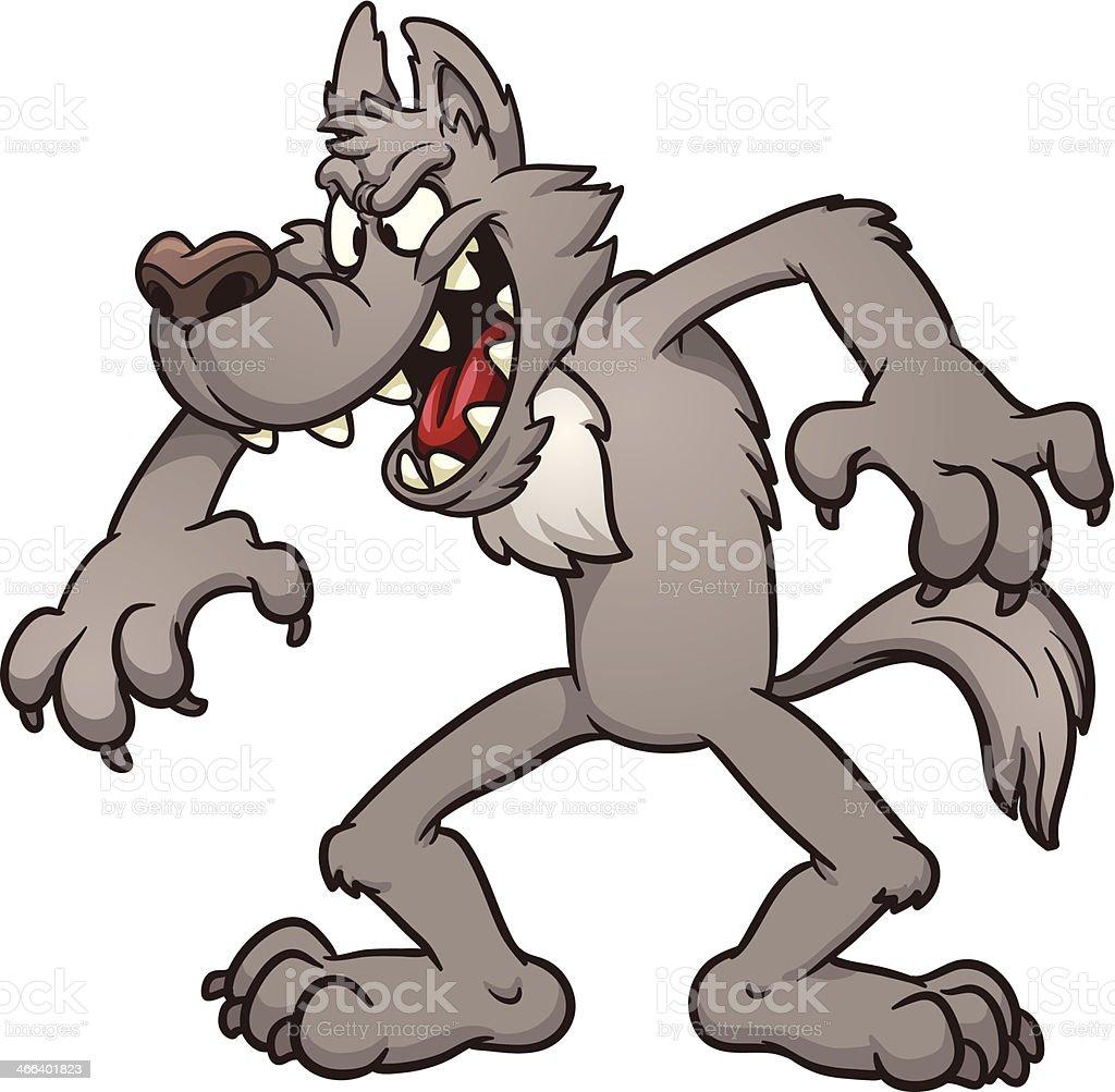 Big bad wolf vector art illustration