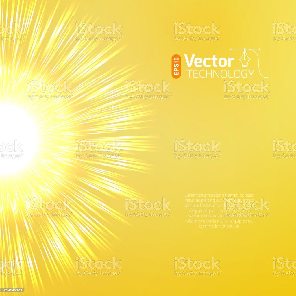 big bang explosion vector art illustration