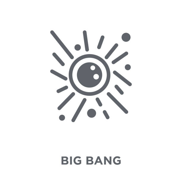 illustrazioni stock, clip art, cartoni animati e icone di tendenza di big bang icon from astronomy collection. - big bang