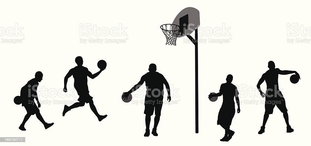 Big Basketball Vector Silhouette royalty-free stock vector art