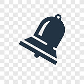 Big Bell vector icon isolated on transparent background, Big Bell transparency logo concept