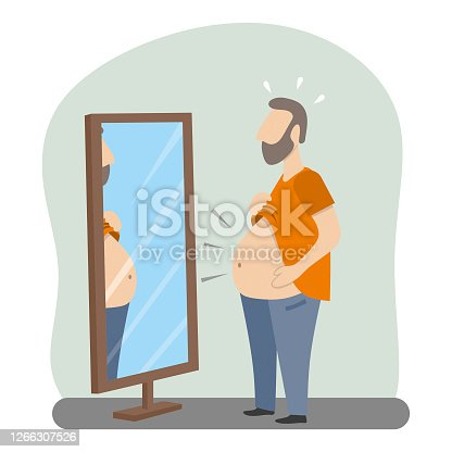 istock Big belly man 1266307526