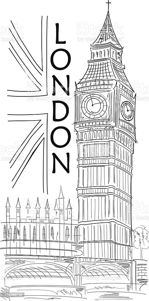 Big Ben black vector illustration royalty-free big ben black vector illustration stock vector art & more images of abstract