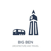 Big ben icon. Trendy flat vector Big ben icon on white background from Architecture and Travel collection, vector illustration can be use for web and mobile, eps10