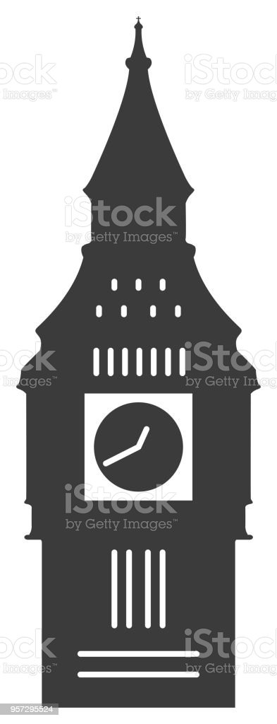 Big Ben Icon vector art illustration
