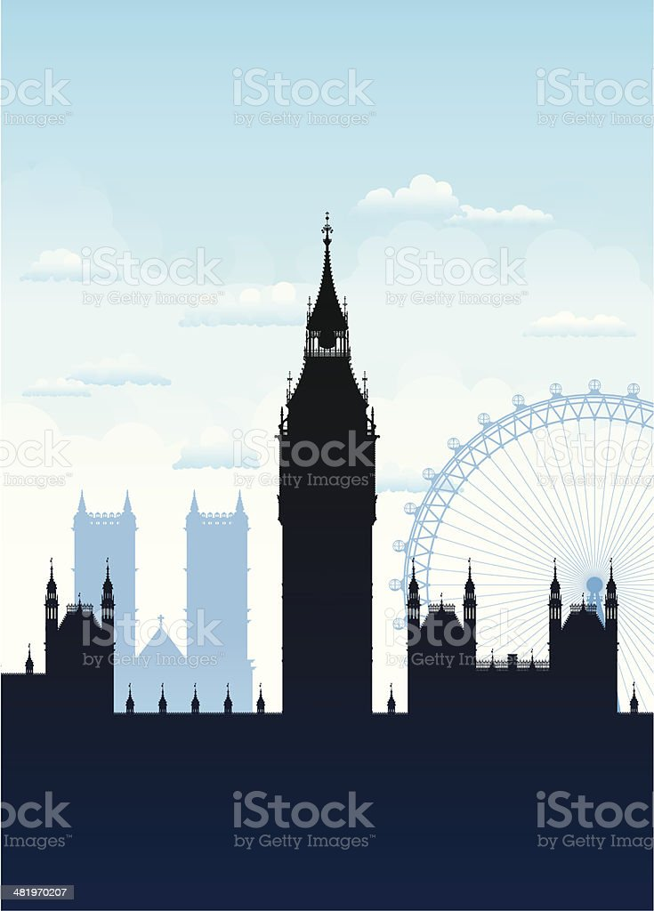 Big Ben, London vector art illustration