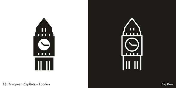 Landmark building of London, the capital city of the United Kingdom