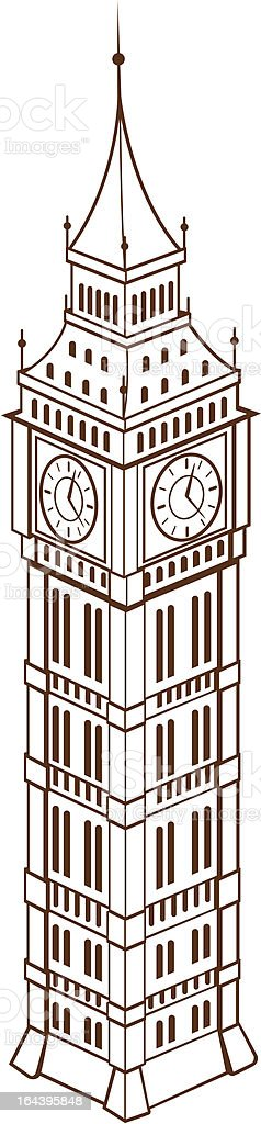Big Ben vector art illustration