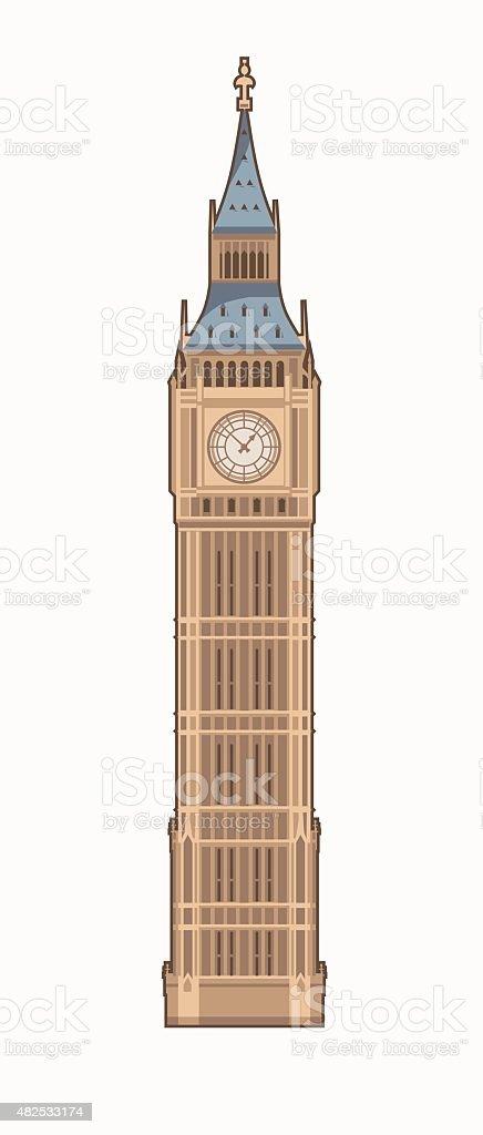 royalty free big ben clip art vector images illustrations istock rh istockphoto com big ben clipart vector big ben clock clip art