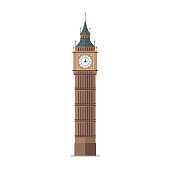 Big Ben vector illustration. Flat style design