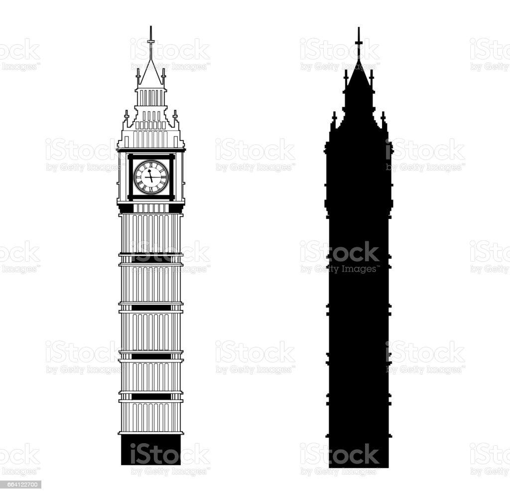 Big Ben vector big ben vector - immagini vettoriali stock e altre immagini di arte royalty-free