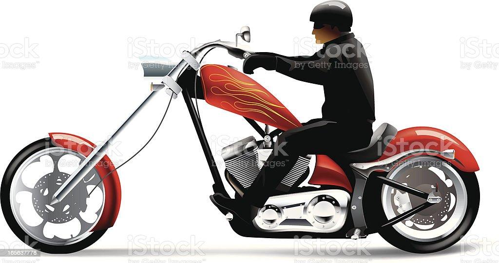 Big bike motorcycle vector art illustration
