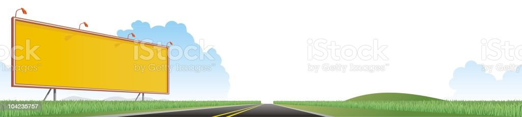 Big Blank on the Road royalty-free stock vector art