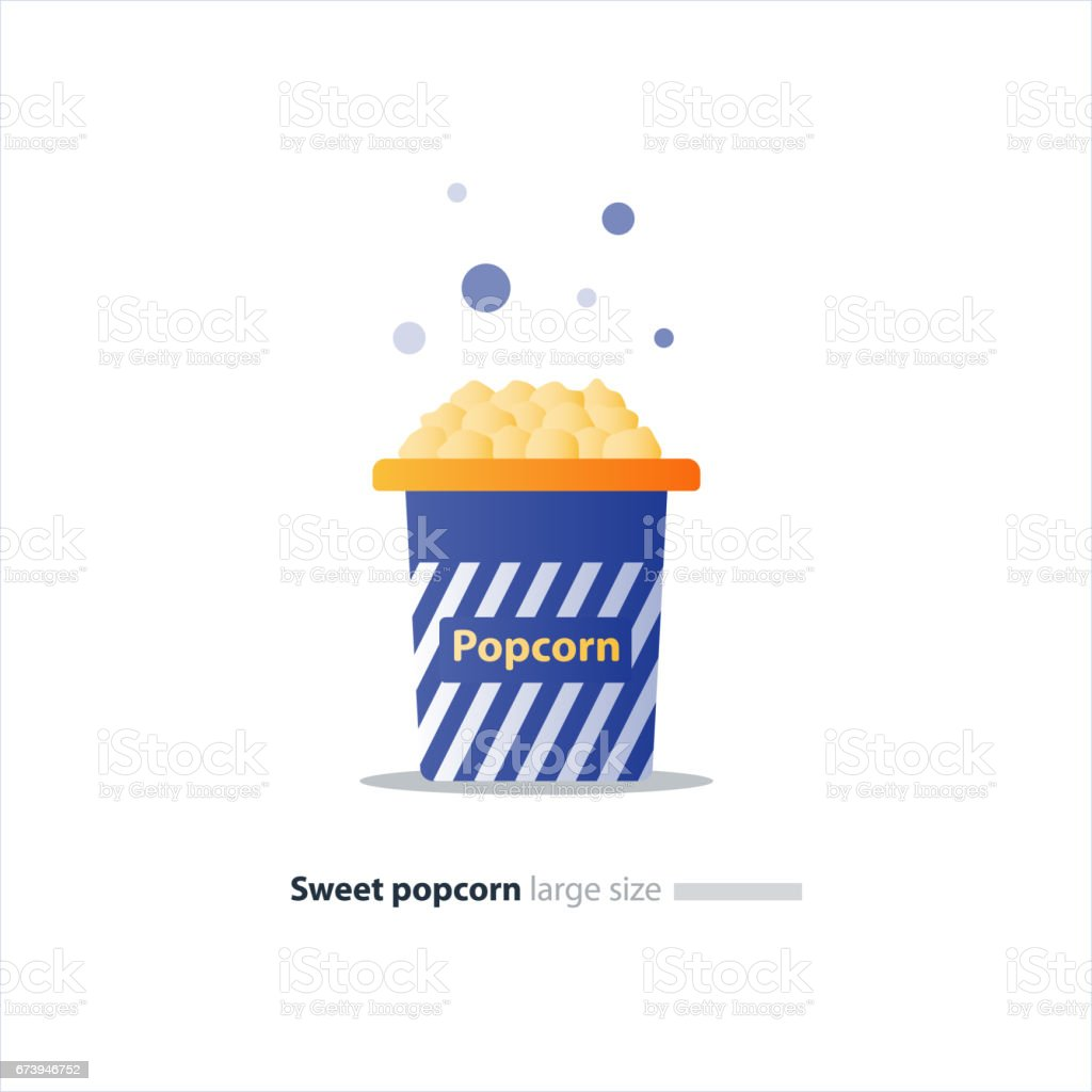 Big blue box with popcorn royalty-free big blue box with popcorn stock vector art & more images of biggest