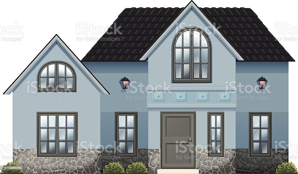 big blue house royalty-free stock vector art