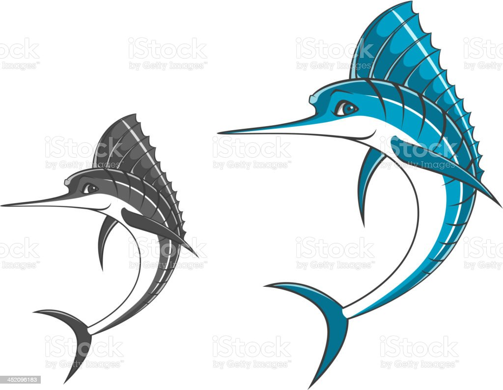 Big blue marlin royalty-free stock vector art